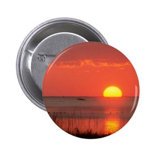 Sky Golden Moment Gulf Mexico Florida Pinback Buttons