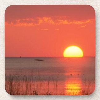 Sky Golden Moment Gulf Mexico Florida Drink Coaster