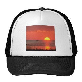 Sky Golden Moment Gulf Mexico Florida Trucker Hats