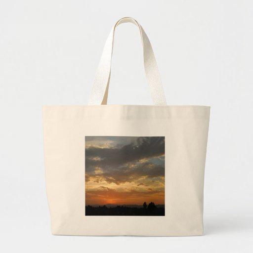Sky Golden Sunset Canvas Bag