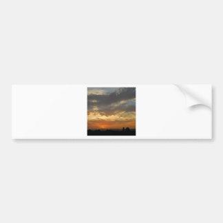 Sky Golden Sunset Bumper Stickers