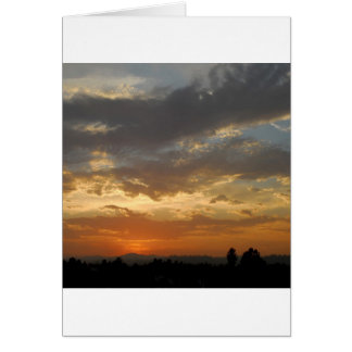 Sky Golden Sunset Card
