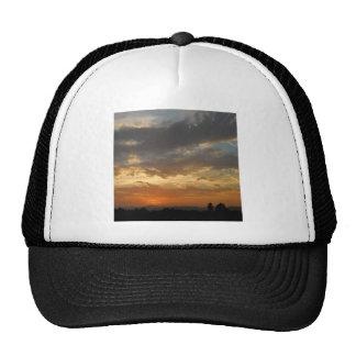 Sky Golden Sunset Trucker Hats