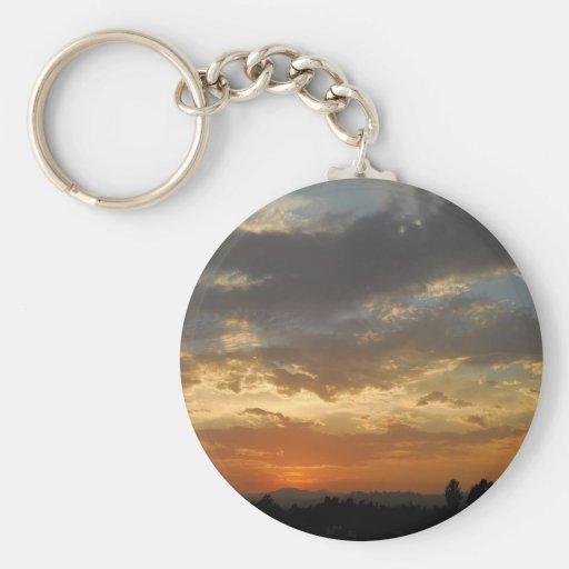 Sky Golden Sunset Keychain