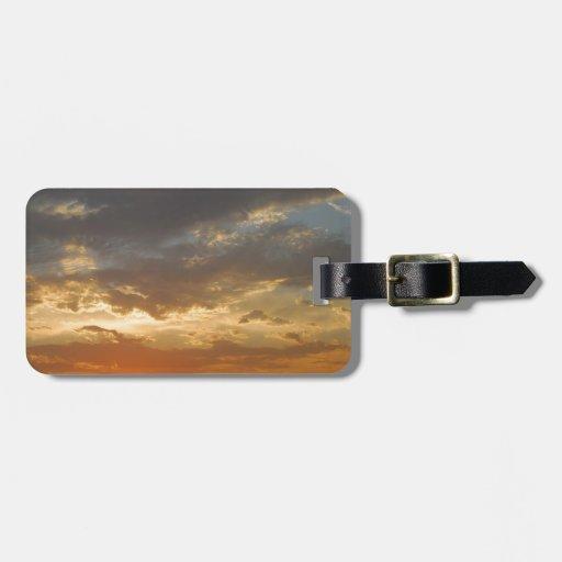Sky Golden Sunset Travel Bag Tag