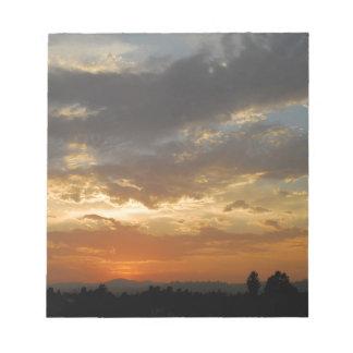 Sky Golden Sunset Memo Pad