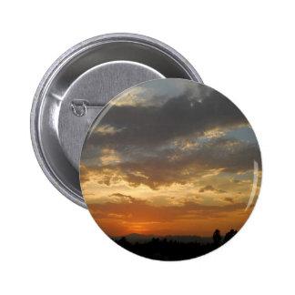 Sky Golden Sunset Pinback Buttons