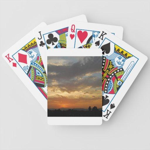 Sky Golden Sunset Card Decks