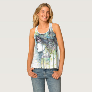 Sky Gypsy Fantasy Boho Style Contemporary Art Singlet