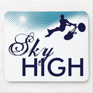 sky high cycles mouse pad