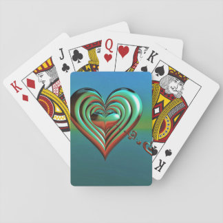 Sky High Hearts Playing Cards