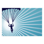 sky high skydiver personalised invitations