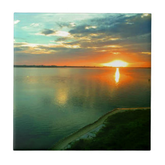 Sky High Sunset Small Square Tile