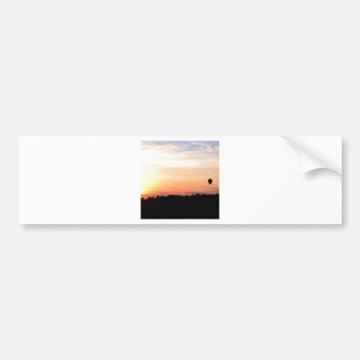 Sky Hot Air Balloon Sunset Bumper Stickers