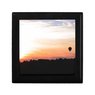 Sky Hot Air Balloon Sunset Small Square Gift Box
