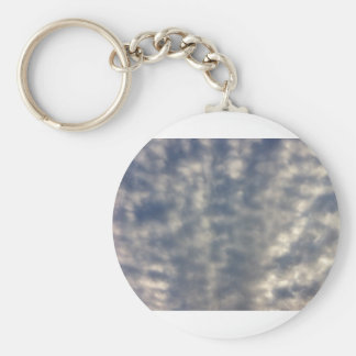 Sky images with ruffled soft clouds keychains