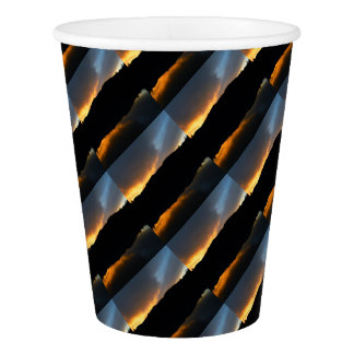 sky in the mirror paper cup