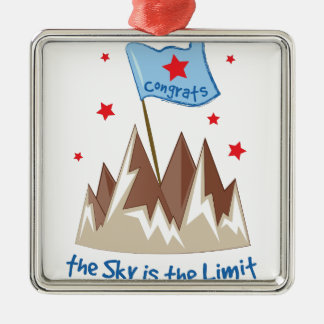 Sky Is Limit Silver-Colored Square Decoration