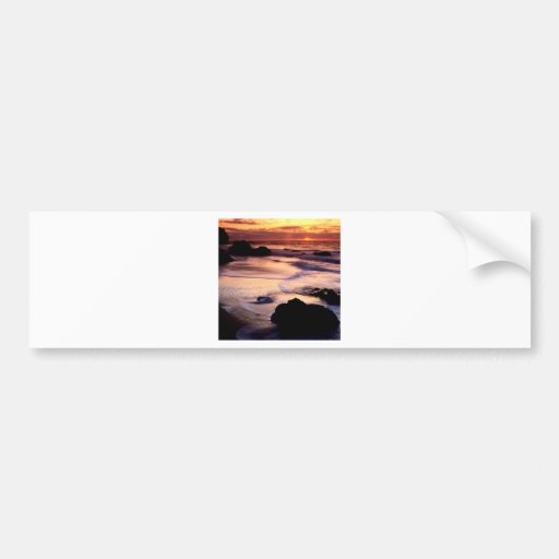 Sky Lands End Beach Golden Bumper Stickers