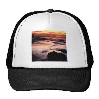 Sky Lands End Beach Golden Trucker Hats