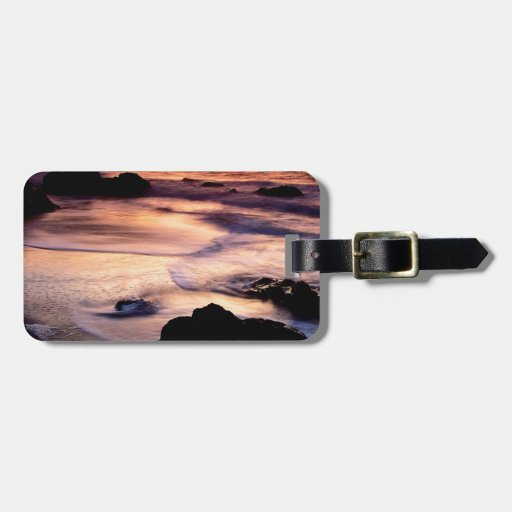 Sky Lands End Beach Golden Luggage Tags