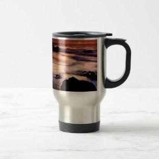 Sky Lands End Beach Golden Mugs