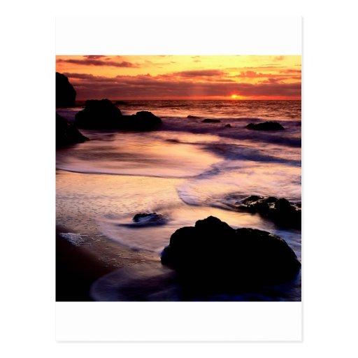 Sky Lands End Beach Golden Post Cards