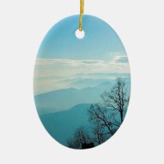 Sky Light Blue Horizons Christmas Ornament