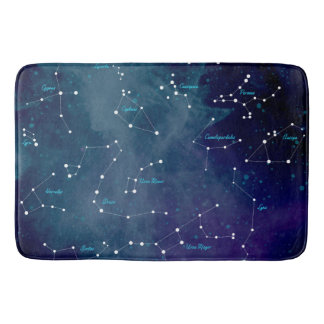 Sky Map Constellations Astronomy Bath Mat