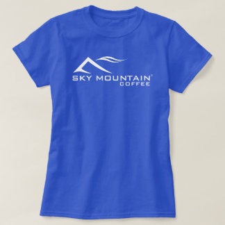 Sky Mountain Coffee Logo Basic Ladies Dark T-Shirt