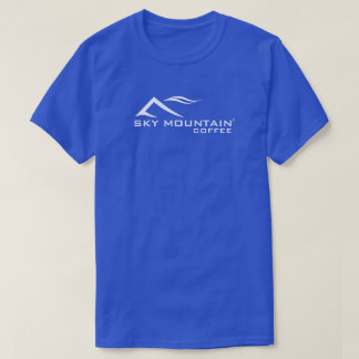 Sky Mountain Coffee Logo Basic Mens Dark T-Shirt