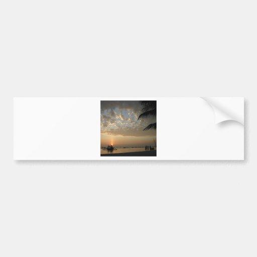 Sky Natures Sunset Bumper Sticker