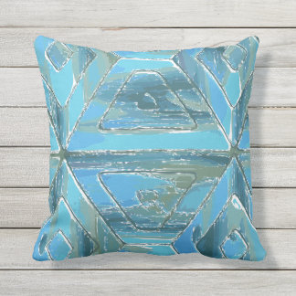 Sky Ocean and Sea Reflections Modern Geometric Throw Pillow