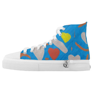 Sky of Love High Tops Printed Shoes