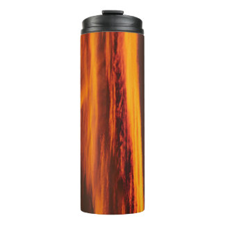 Sky On Fire Sunset Sky Thermal Tumbler