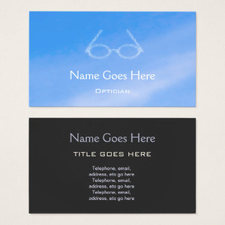 """Sky"" Optician Business Cards"