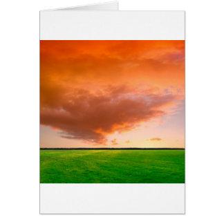 Sky Orange Nature Card