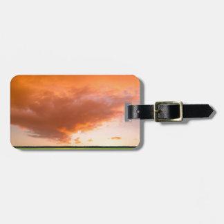 Sky Orange Nature Travel Bag Tags