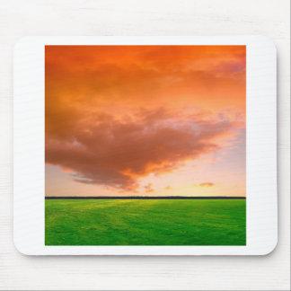 Sky Orange Nature Mouse Pad