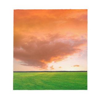 Sky Orange Nature Memo Note Pad