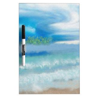 Sky Over Beach Art Dry Erase Board