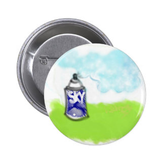 Sky Paint Pinback Buttons