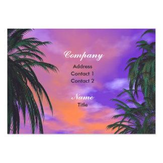 Sky Palms - Chubby Business Card Templates