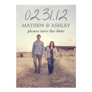 Sky Photo Design Text Save The Date Announcements
