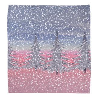sky pink and snow bandana