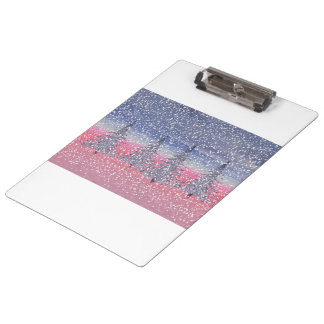 sky pink and snow clipboard