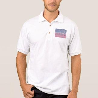 sky pink and snow polo shirt