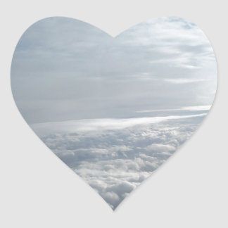 Sky, Plane View, Beautiful Clouds Heart Sticker