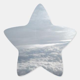 Sky, Plane View, Beautiful Clouds Star Sticker