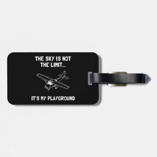 Sky Playground Plane Luggage Tag
